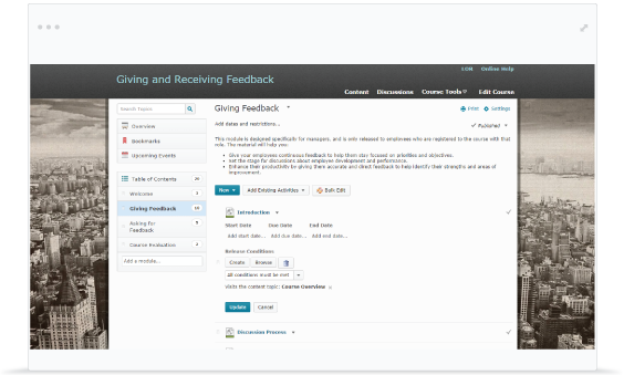 Screenshot of the Brightspace increasing student and faculty engagement.