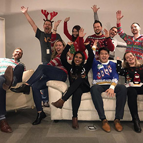 Our team had a blast hosting our 1st annual Sell Us Your Ugly Sweater Party! Thanks to everyone who joined us for a great night. If you're interested in being part of our team, head on over to our careers site (link in bio) to check out our open roles. #lifeatd2l #uglysweaterparty #awkwardfamilyphoto #sales #kwawesome #kitchener #toronto #workwithus