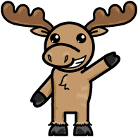 Moose mascot dressed up to help you schedule a demo