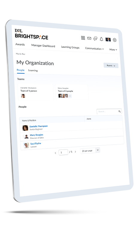 Screenshot of Customer Training course on tablet