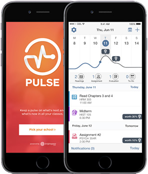 The Pulse app from D2L