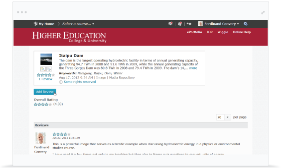 Screenshot of the Promote faculty productivity.
